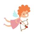 silhouette cartoon cupid angel flying valentine vector image