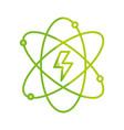 silhouette energy hazard symbol of power industry vector image vector image
