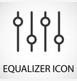 simple equalizer icon vector image