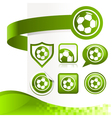 Soccer Ball Design Kit vector image vector image