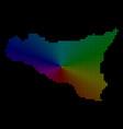 spectrum dot sicilia map vector image vector image