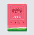 summer sale watermelon lettering badge design vector image