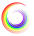 swirl colors lgbt rainbow swirl swirling vector image vector image
