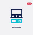 two color arcade game icon from entertainment and vector image vector image