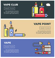 vape point club informative internet pages vector image vector image