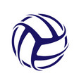 volleyball blue wallpaper vector image vector image