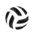volleyball grunge dotted silhouette vector image vector image