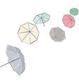 W umbrellas vector image