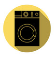 washing machine sign flat black icon with vector image vector image