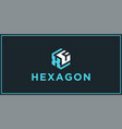 xf hexagon logo design inspiration vector image vector image