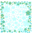Floral frame with blue flowers on white background vector image