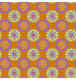 Fractal mandala seamless pattern on orange vector image