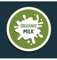 organic milk icon vector image