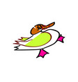 duck funny duckling character duck baby picture vector image