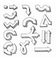 Hand Drawn Graphic Arrows vector image
