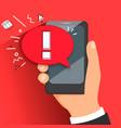 concept of malware notification or error vector image
