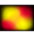 abstract red-yellow halftone background vector image vector image