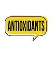 antioxidants speech bubble vector image