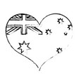 australian heart design vector image