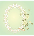background with lace frame vector image