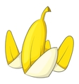 Banana peel icon cartoon style vector image vector image