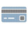 bank card halftone icon vector image vector image