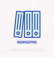 bookkeeping symbol stack of folders line icon vector image
