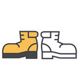 boots foorwear hiking concept line icon vector image
