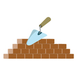 bricks and trowel vector image