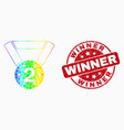 bright pixelated 2nd place medal icon and vector image vector image