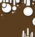 brown background with rounds vector image vector image