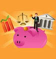 business and finance concept vector image vector image
