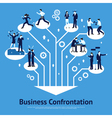 Business Confrontation Flat Graphic Design vector image vector image