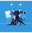 business people at work in vector image vector image