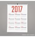 calendar 2017 Design vector image