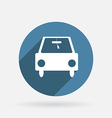 car symbol Circle blue icon with shadow vector image vector image