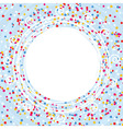 card with confetti lines and curves vector image vector image