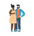 cartoon characters in pregnancy period happy man vector image vector image