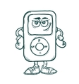 Cartoon Music player vector image vector image