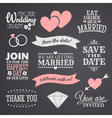 Chalkboard wedding elements set