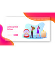 characters engagement landing page template man vector image
