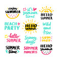 cute summer lettering set vector image