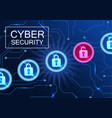 cyber security banner anti-virus network hacking vector image