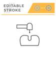dental treatment editable stroke line icon vector image vector image
