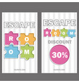 escape room poster banner on vector image vector image