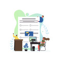 exam concept flat style design vector image