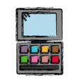 eye shadows palette icon vector image vector image