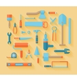 Flat working tools icon set vector image vector image