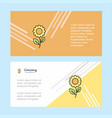flower abstract corporate business banner vector image