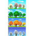 four seasons trees and landscape banners vector image vector image